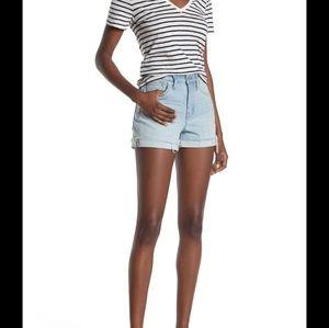 Madewell Women Hi-Rise Denim Shorts